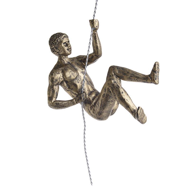 Ορειβάτης κρεμαστός διακοσμητικός polyresin χρυσός Inart 3-70-645-0008