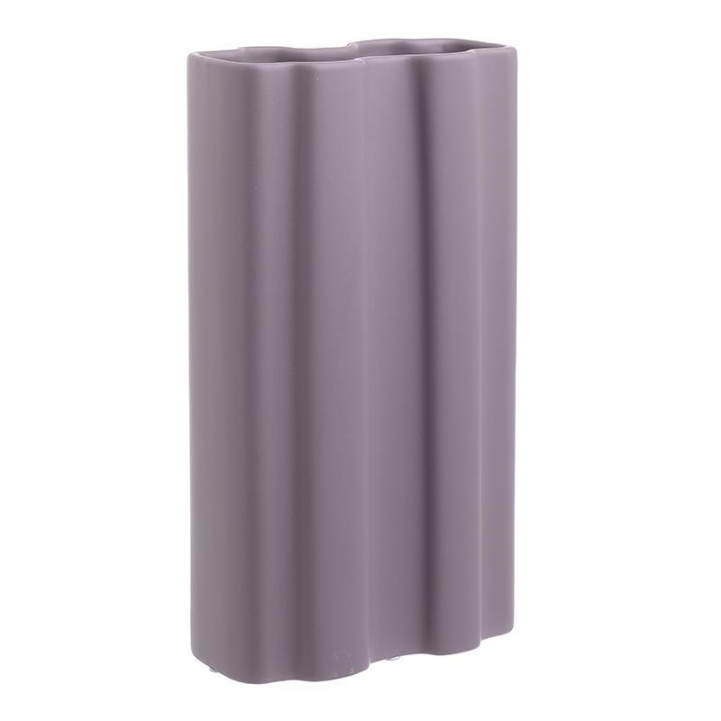 Βάζο διακοσμητικό κεραμικό μωβ 19x10x33cm Inart 3-70-573-0007
