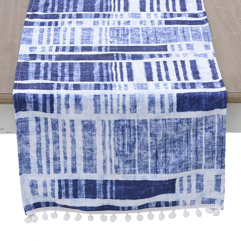 Τραβέρσα υφασμάτινη μπλε 40x140cm Inart 3-40-865-0199