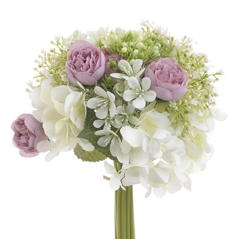 Λουλούδι/Μπουκέτο pl υφασμάτινο μωβ/λευκό Inart 3-85-505-0061