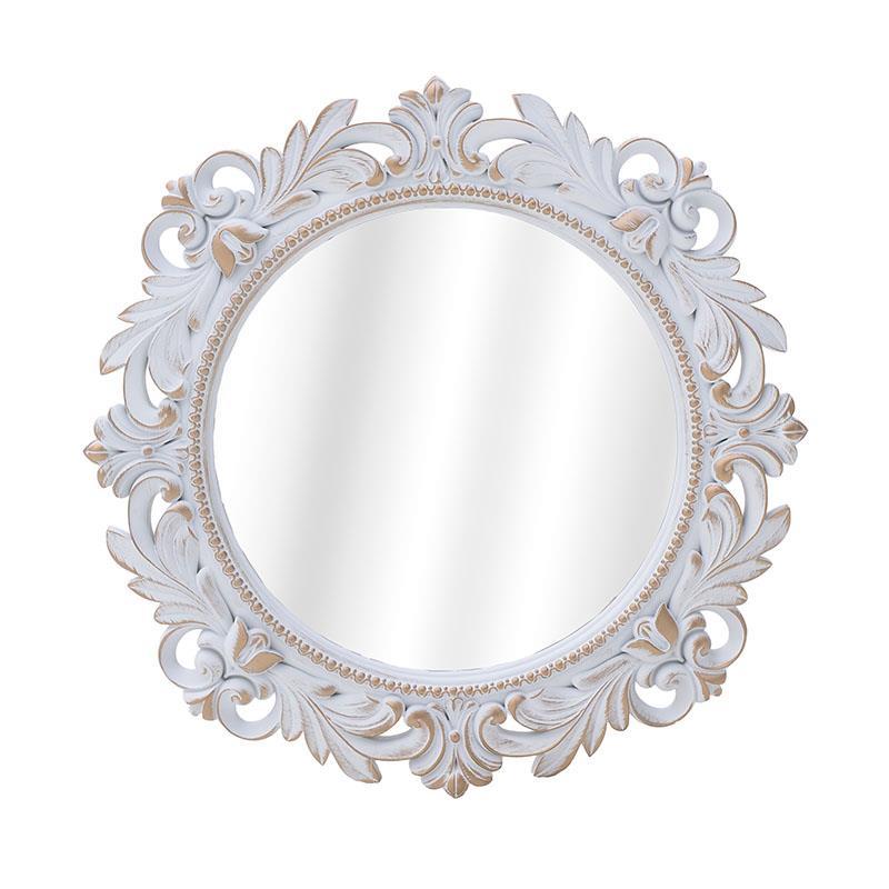Καθρέπτης τοίχου pl αντικέ λευκό 50x3cm Inart 3-95-290-0025