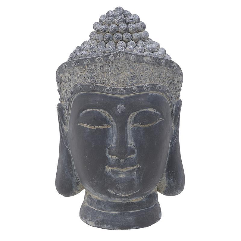 Βούδας διακοσμητικό polyresin γκρι 39x36x60cm Inart 3-70-801-0039