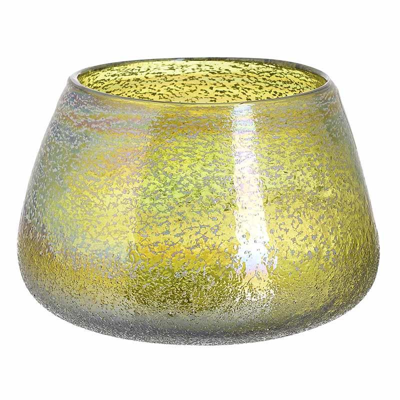 Βάζο διακοσμητικό γυάλινο πράσινο 20x13cm Inart 3-70-900-0014