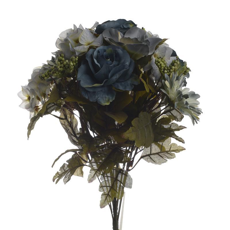 Λουλούδι/Μπουκέτο pl μπλε 48cm Inart 3-85-309-0013