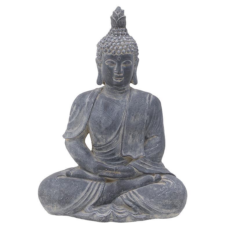 Βούδας διακοσμητικό polyresin γκρι 41x26x56cm Inart 3-70-801-0043