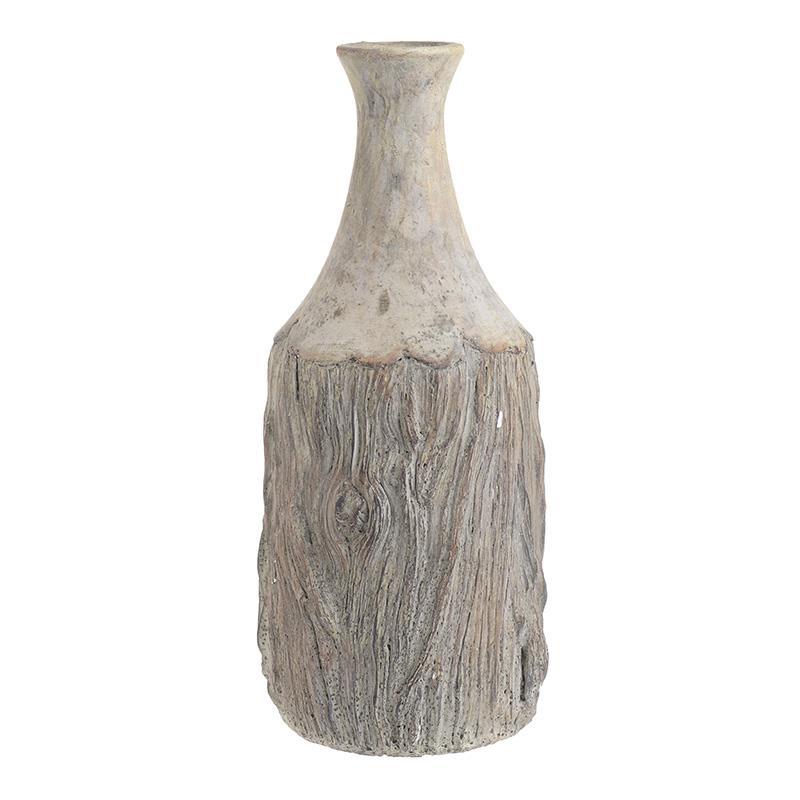Βάζο διακοσμητικό τσιμεντένιο αντικέ γκρι 19x40cm Inart 3-70-827-0012