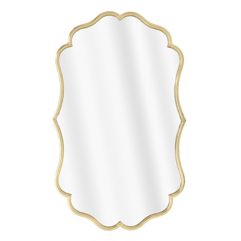 Καθρέπτης τοίχου μεταλλικός χρυσός 67x3x112cm Inart 3-95-161-0045