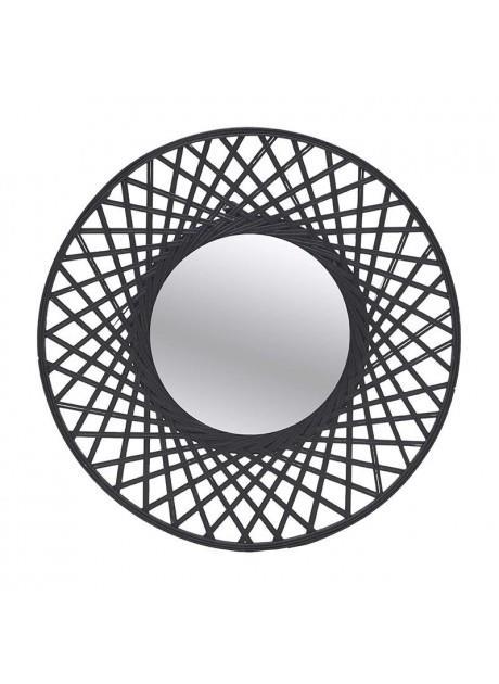 Καθρέπτης τοίχου ξύλινος μαύρος 59x3cm Inart 3-95-480-0008
