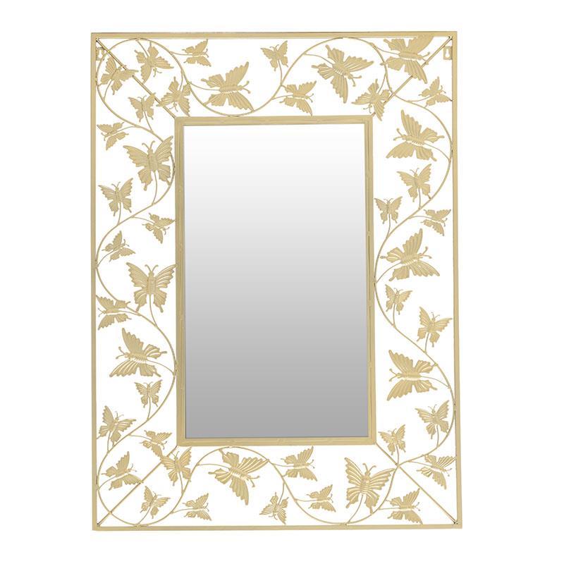 Καθρέπτης τοίχου μεταλλικός χρυσός 72x1x98cm Inart 3-95-698-0001