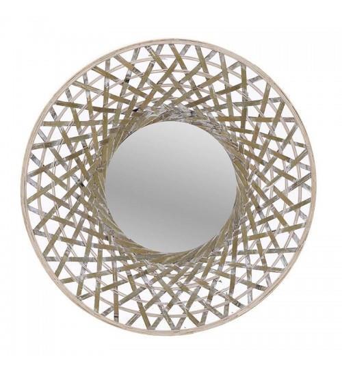 Καθρέπτης τοίχου ξύλινος natural 60x5cm Inart 3-95-480-0010