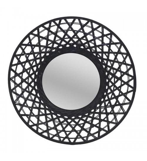 Καθρέπτης τοίχου ξύλινος μαύρος 60x5cm Inart 3-95-480-0011