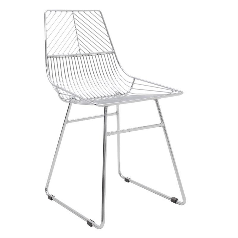 Καρέκλα μεταλλική ασημί 50x39x78.5cm Inart 3-50-664-0004