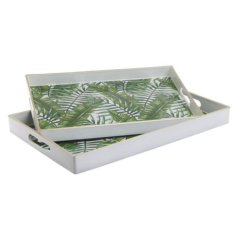 S/2 Δίσκος σερβιρίσματος pl πράσινος 46x30cm Inart 3-70-968-0027