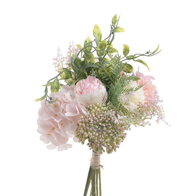 Λουλούδι/Μπουκέτο διακοσμητικό pl/υφασμάτινο ροζ Inart 3-85-505-0060