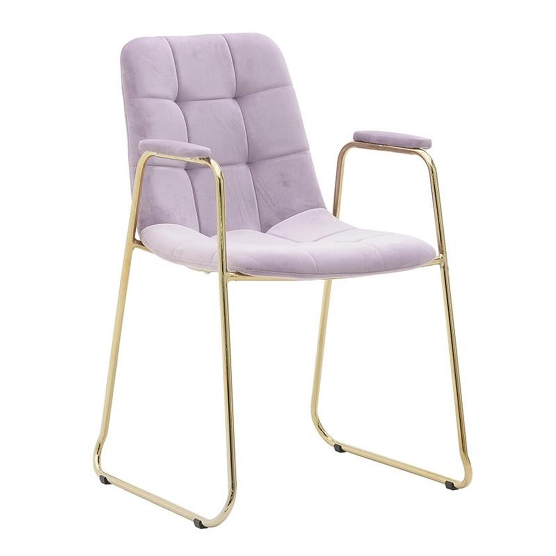 Καρέκλα μεταλλική/βελούδινη χρυσή/ροζ 56x57x89cm Inart 3-50-224-0006