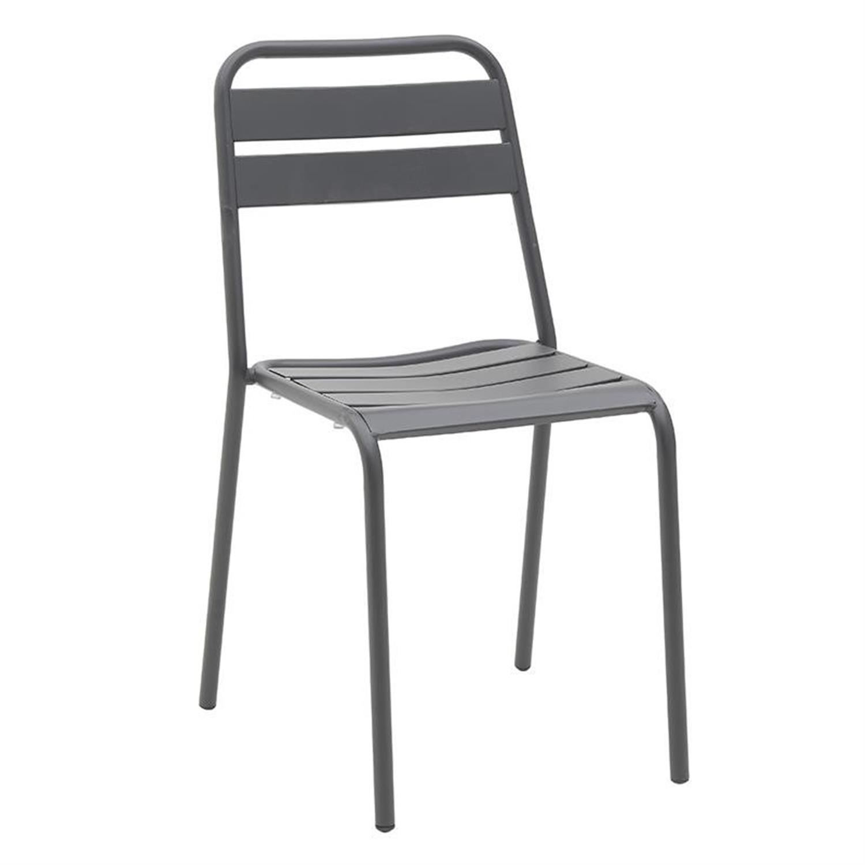 Καρέκλα μεταλλική γκρι 45x48x83cm Inart 3-50-040-0006