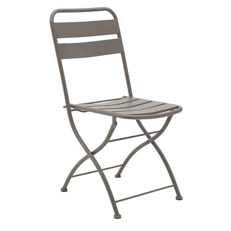 Καρέκλα πτυσσόμενη μεταλλική ποντικί 45x48x83cm Inart 3-50-040-0007