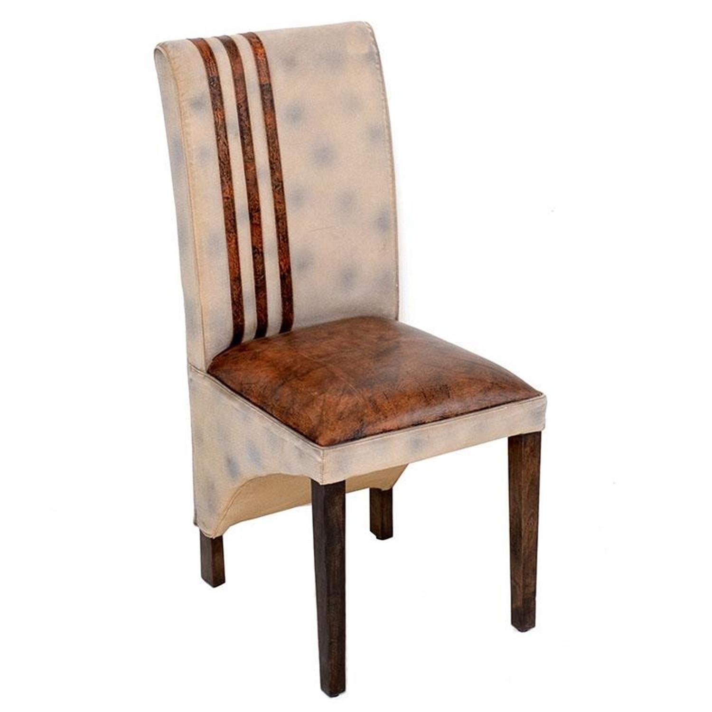 Καρέκλα υφασμάτινη/δερμάτινη καφέ 46x49x102cm Inart 3-50-189-0007