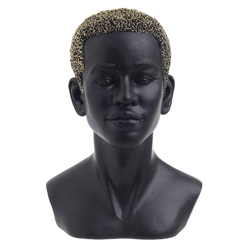 Προτομή γυναικεία polyresin χρυσό/μαύρο 18x15x25cm Inart 3-70-211-0088