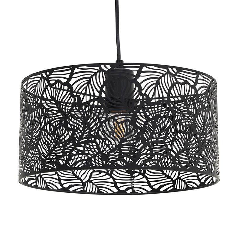 Φωτιστικό οροφής μεταλλικό μαύρο Δ30×1.10cm Inart 3-10-460-0007