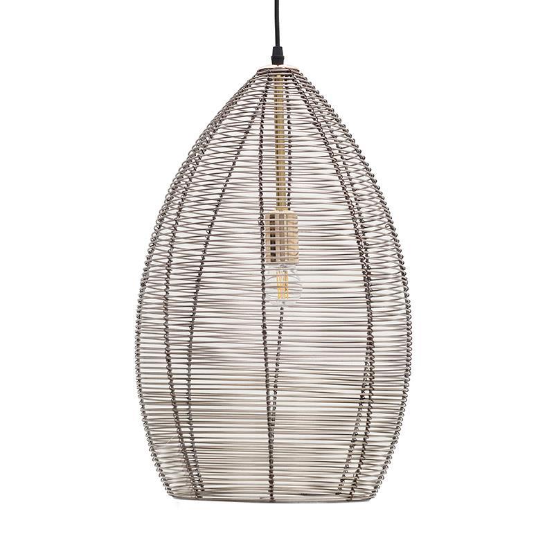 Φωτιστικό οροφής κρεμαστό μονόφωτο μεταλλικό μπρονζέ Δ30x66cm Inart 3-10-643-0023