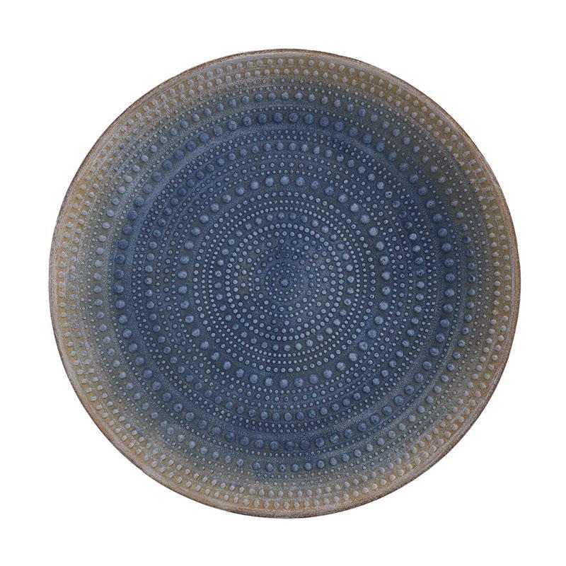 Πιατέλα διακοσμητική ξύλινη μπλε 30x3cm Inart 3-70-511-0007