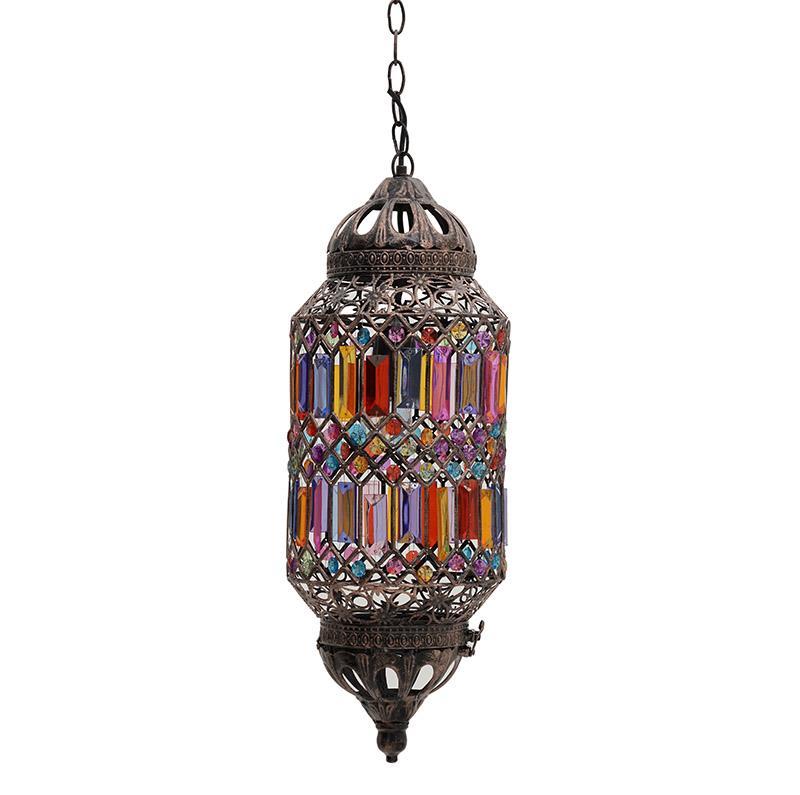 Φωτιστικό οροφής μεταλλικό ακρυλικό πολύχρωμο Δ20x50cm Inart 3-10-643-0029