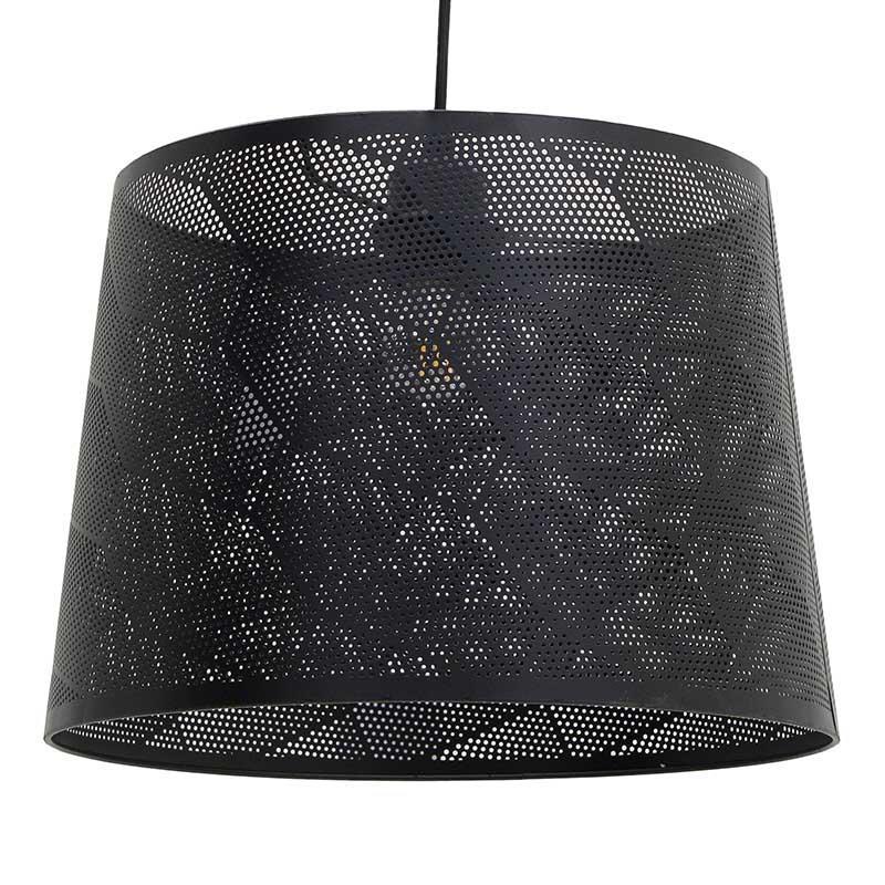 Φωτιστικό oροφής μεταλλικό μαύρο Δ35x110cm Inart 3-10-774-0029