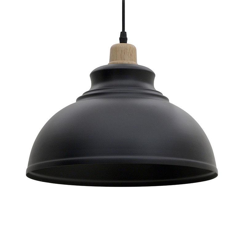 Φωτιστικό οροφής μεταλλικό μαύρο Δ30x105cm Inart 3-10-774-0035