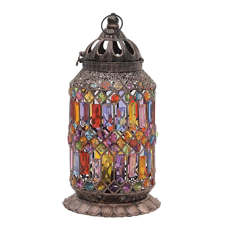 Φωτιστικό επιτραπέζιο μεταλλικό/ακρυλικό πολύχρωμο Δ33x30cm Inart 3-15-463-0002