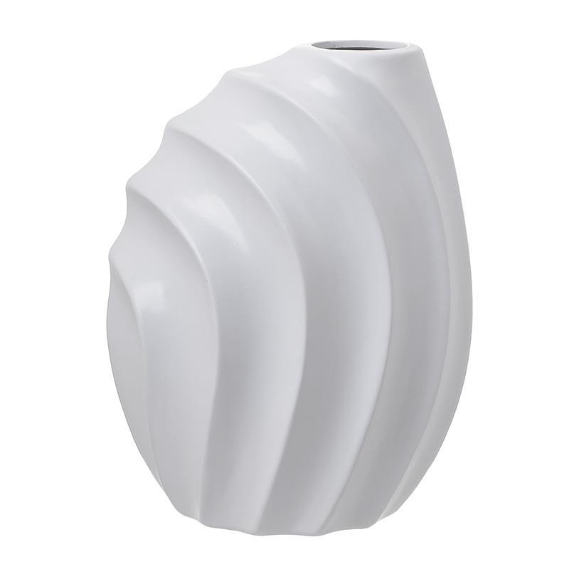 Βάζο διακοσμητικό κεραμικό λευκό 17x13x23cm Inart 3-70-797-0008