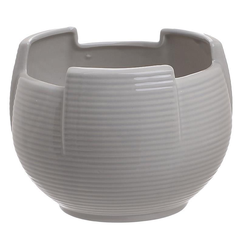Βάζο διακοσμητικό κεραμικό γκρι 18x14cm Inart 3-70-797-0015