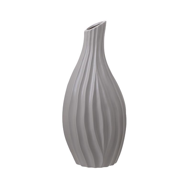 Βάζο διακοσμητικό κεραμικό γκρι 20x17x42cm Inart 3-70-797-0020
