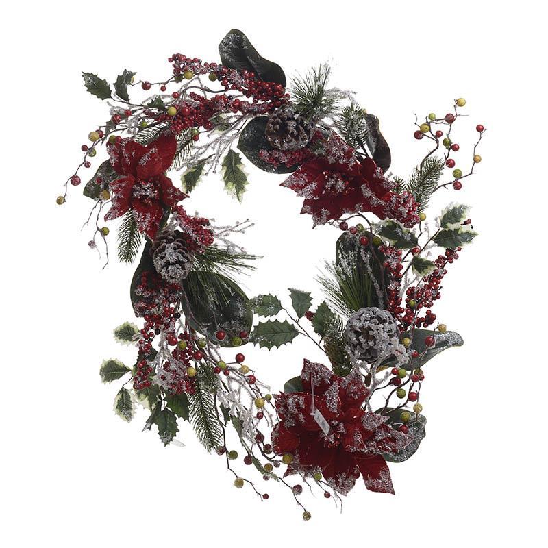 Γιρλάντα λουλούδια/κουκουναρια pl 183cm Inart 3-85-330-0023