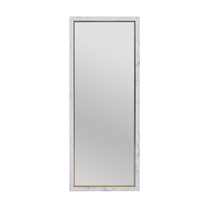 Καθρέπτης τοίχου pl όψη μαρμάρου λευκός/μαύρος 36x96cm Inart 3-95-202-0031