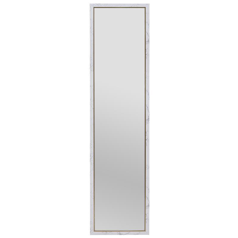 Καθρέπτης τοίχου pl όψη μαρμάρου λευκός/μαύρος 36x156cm Inart 3-95-202-0033