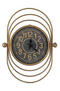 Ρολόι τοίχου μεταλλικό χρυσό 34×46.5×10.5cm