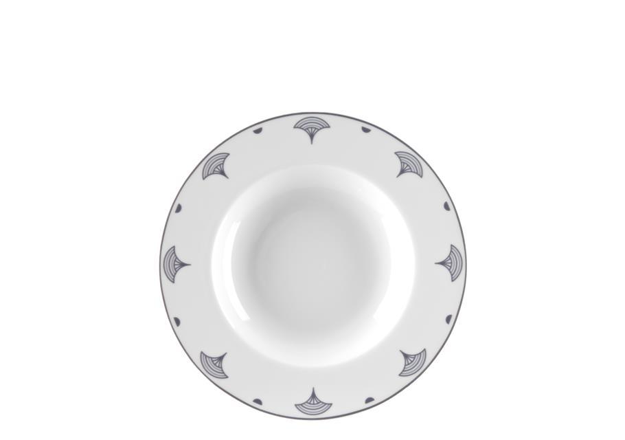 Πιάτο βαθύ πορσελάνινο λευκό/μαύρο Δ22.5cm Antigoni Ιωνία 1181811