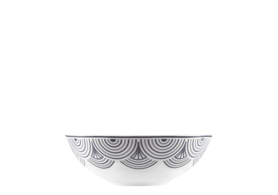 Σαλατιέρα πορσελάνινη λευκή/μαύρη Δ21cm Antigoni Ιωνία 1181815