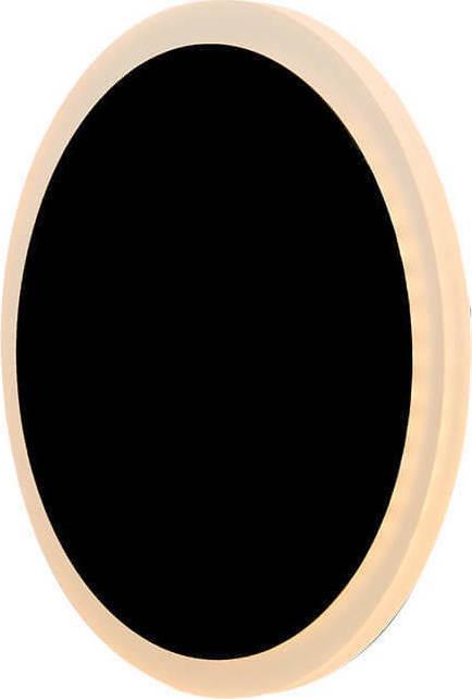 Απλίκα Led αλουμινίου μαύρη Δ18x6cm InLight 43400