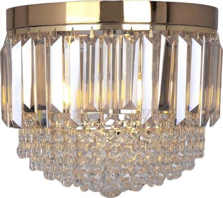 Πολυέλαιος 3φωτος γυάλινος διάφανος χρυσός 30x28cm Inart 3-10-917-0050