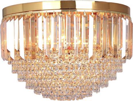 Πολυέλαιος 7φωτος γυάλινος διάφανος ασημί 50x35cm Inart 3-10-917-0053