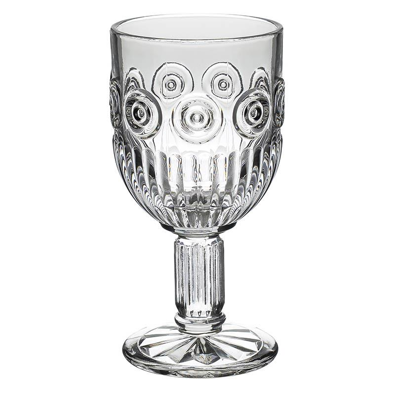 S/6 Ποτήρι κρασιού γυάλινο διάφανο 340ml Inart 6-60-095-0003