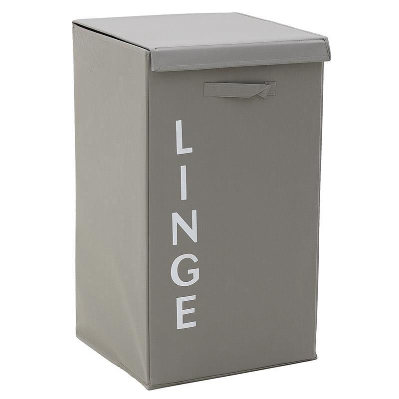 Καλάθι απλύτων υφασμάτινο μπεζ 30x30x60cm Inart 6-65-508-0009