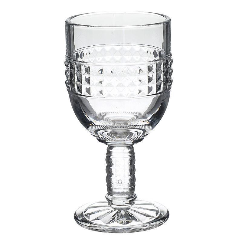 S/6 Ποτήρι κρασιού γυάλινο διάφανο 340ml Inart 6-60-095-0006