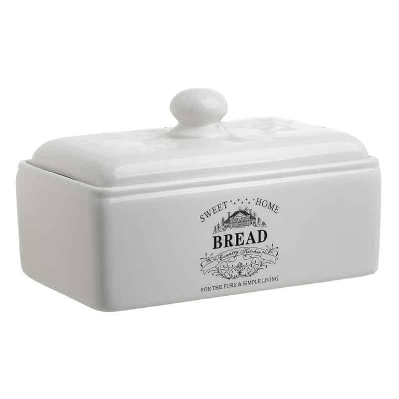 Ψωμιέρα πορσελάνινη λευκή Inart 6-60-690-0001