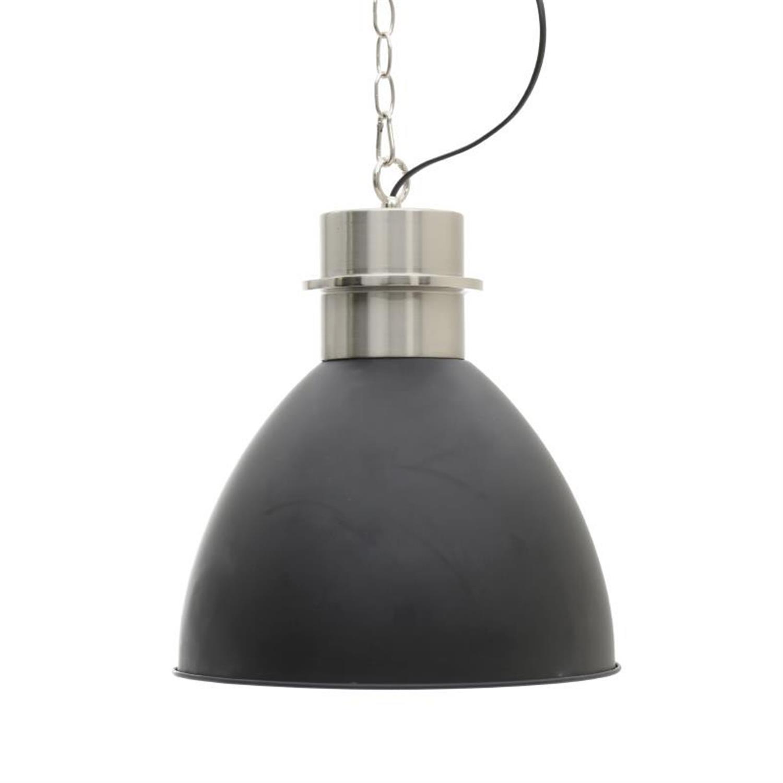 Φωτιστικό οροφής μεταλλικό μαύρο Δ30×42/120cm Inart 3-10-104-0066