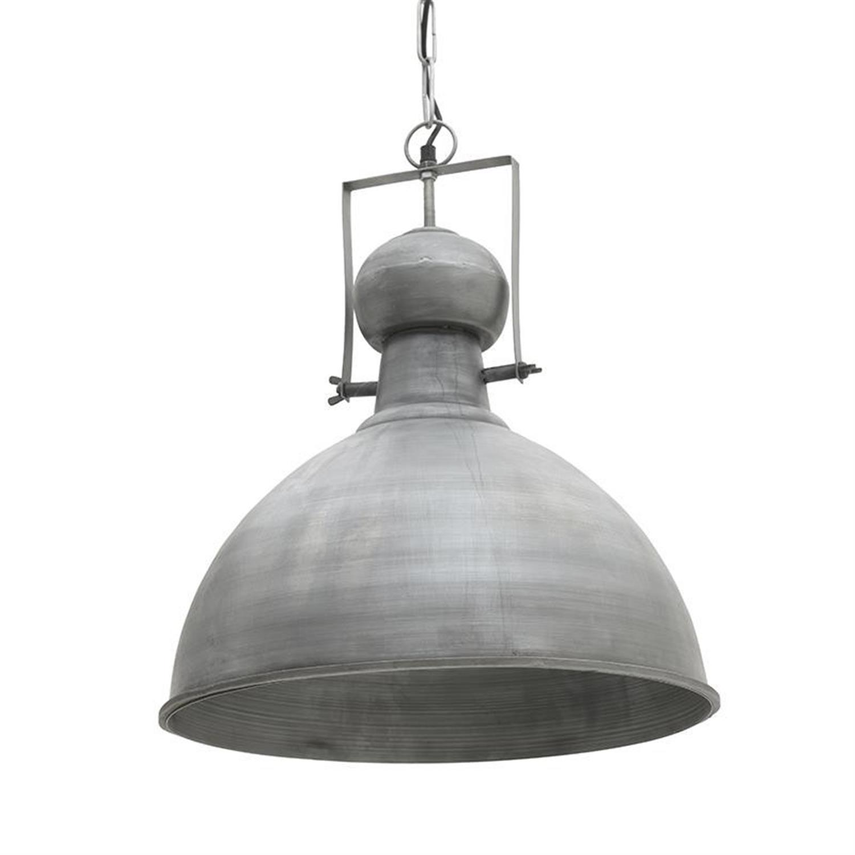 Φωτιστικό οροφής μεταλλικό ασημί Δ43×49/150cm Inart 3-10-189-0023