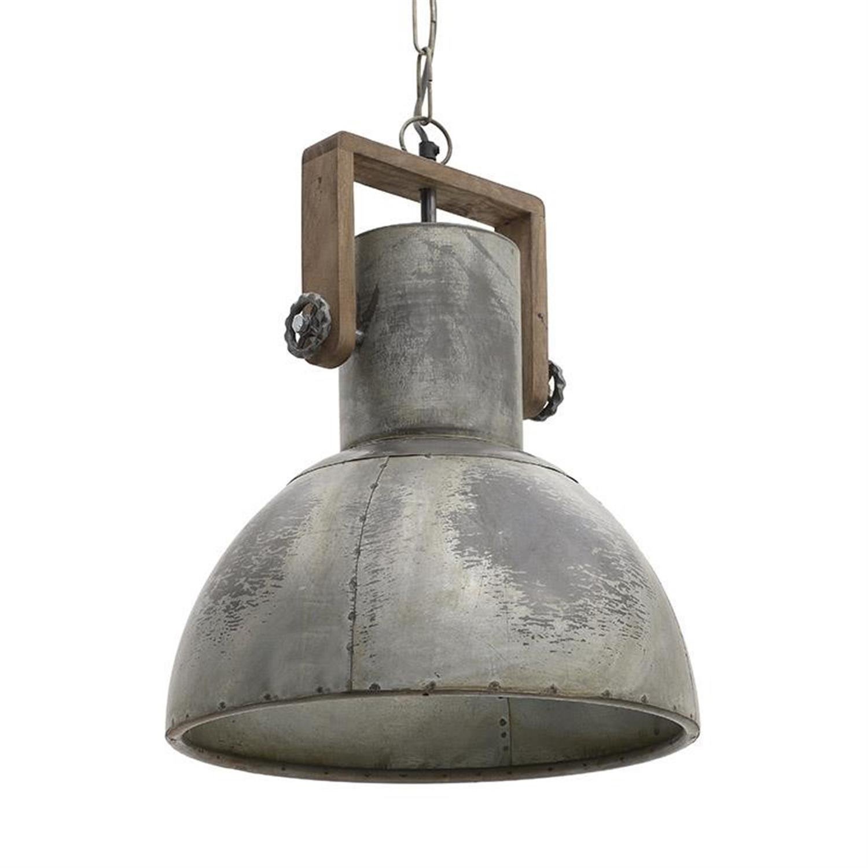 Φωτιστικό οροφής μεταλλικό ασημί Δ40×45/140cm Inart 3-10-189-0024