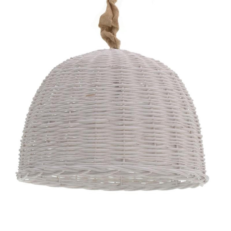 Φωτιστικό οροφής ψάθινο λευκό Δ54×36/140cm Inart 3-10-269-0007